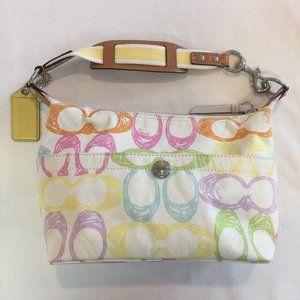Coach Scribble F11672 white multi color handbag